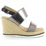la-strada-zwart-zilver-sandalen